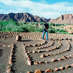 Eye candy abounds in this southern Utah desert oasis, Kayenta. An artists' village boasts a cluster of galleries, shops, and a cafe with a backdrop of red rock mountains and desert gardens. You can try your hand at pottery, or browse local wares. The ultimate local experience? A peaceful sunset stroll through the Desert Rose Labyrinth (pictured) and its adjoining sculpture garden dotted with works by the area's masters.