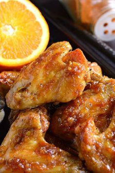 """Juicy, sticky, awesome wings that will blow your taste buds away! Baked chicken wings slathered in an easy homemade spicy orange glaze will make any party a smash! Don't forget to sign up for email, so you won't miss any new recipes. PIN IT if you LOVE IT! I finally understand what """"Don't Stop 'Til...Read More »"""