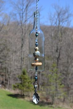 Wine Bottle Wind Chime by WhiteRoosterShoppe on Etsy