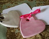 "wedding favors, I could make these... make playdoh, shape, ""engrave"", bake, add ribbon!"