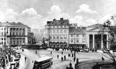 Warszawa - Plac Teatralny 1937 r. Fot. K. Wojutyński. Homeland, World War, Photographs, Old Things, Louvre, Street View, Lost, Polish, Country