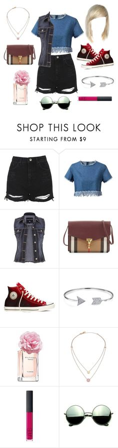 """Look Simples."" by karinyferreira ❤ liked on Polyvore featuring Topshop, Chicnova Fashion, maurices, Burberry, Converse, Bling Jewelry, Tommy Hilfiger, Michael Kors, NARS Cosmetics and Revo"