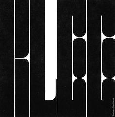 "Barbara Stauffacher Solomon, typographic ""Klee"" design for a calendar for the San Francisco Museum of Modern Art, 1965-71. Via tmagazine"