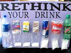 Rethink your drink.