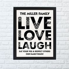 Live Love Laugh Framed Print - Home Full Of Dreams