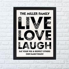 Live Love Laugh Framed Print - Home Full Of Dreams