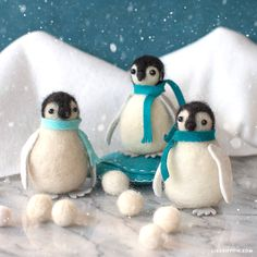 We're bringing back our needle-felted penguins, now easier to craft than ever before! Craft along with our all-new video tutorial for fuzzy friendship