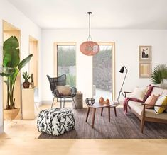 Sherwin-Williams's New Color Palettes Put an End to Paint-Picking Anxiety #SOdomino #room #interiordesign #furniture #property