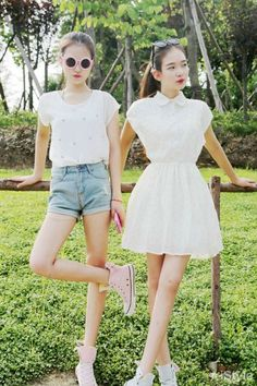 Korean - Asian - Style - Fashion - Outfits - Ulzzang - Sweety - White - Light - Summer