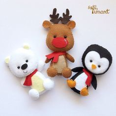 Ткани и шерсть для игрушек,кукол Тильд и др. Felt Christmas Decorations, Christmas Tree Toy, Felt Christmas Ornaments, Christmas Crafts, Christmas Applique, Christmas Sewing, Felt Coasters, Felt Material, Idee Diy