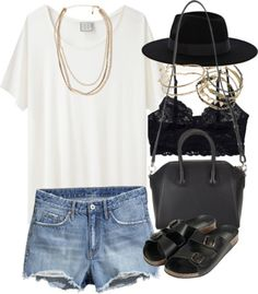Outfit for a summer meet-up by im-emma featuring leather sandals