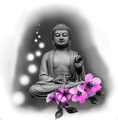 Buddha Painting, Custom Tattoo, Dark Fantasy Art, Buddhism, Black And Grey, Oriental, Tattoo Designs, Meditation, Sculpture