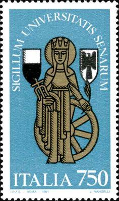 1991 - Scuole d'Italia: Università di Siena - sigillo dell'Università di Siena