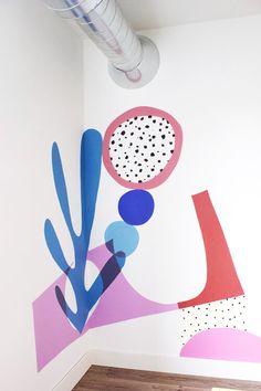 Diy Wall Painting, Mural Painting, Estilo Floral, Mural Wall Art, Diy Wall Decor, Paint Designs, Wall Design, Home Deco, Street Art