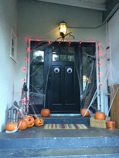 Front porch for Halloween