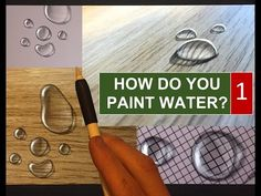 HOW TO PAINT REALISTIC WATER - 1. WATER DROPS, Apple Pencil Drawing Tutorial - YouTube