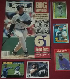Ken Griffey Jr 1994 Sports Illustrated Magazine +5 Baseball Cards Lot Mariners #SeattleMariners