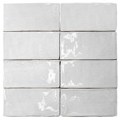 Ivy Hill Tile Catalina White 3 in. x 6 in. x 8 mm Polished Ceramic Subway Wall Tile (5.38 sq. ft./case)-EXT3RD101710 - The Home Depot Splashback Tiles, Subway Tile Backsplash, Kitchen Backsplash, Backsplash Ideas, Tile Ideas, Blue Backsplash, Beadboard Backsplash, Stone Backsplash, Herringbone Backsplash