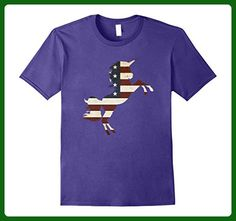 Mens Unicorn USA Flag T-Shirt 3XL Purple - Holiday and seasonal shirts (*Amazon Partner-Link)
