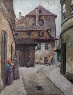 Old Prague | Jan Bedřich Minařík | Czech (1862 - 1937)
