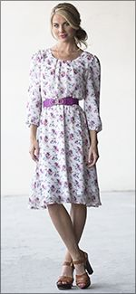 """Blake Dress. Modest Fashion doesn't mean frumpy! Fashion Tips (and a free eBook) here: http://eepurl.com/4jcGX Do your clothing choices, manners, and poise portray the image you want to send? """"Dress how you wish to be dealt with!"""" (E. Jean) http://www.colleenhammond.com/"""