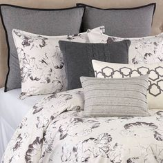 product image for Vera Wang™ Nordic Leaves Duvet Cover