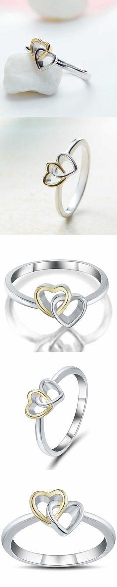 Lajerrio Jewelry Romantic S925 Promise Rings For Her