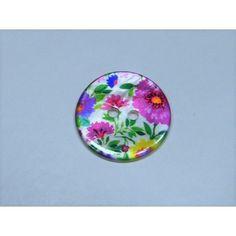 6 peint fleur de noix de coco Boutons 30 mm couture art décoration, artisanat