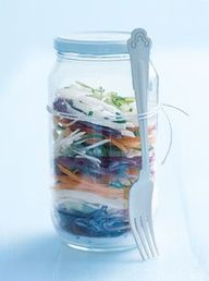 salad on the go! mason jar love