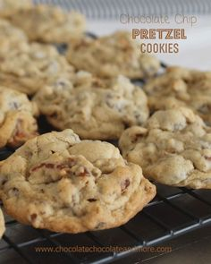 Chocolate Chip Pretzel Cookies the perfect alternative for those with Nut allergies. Oh and the salty from the pretzel gives these cookies the perfect sweet/salty combination!