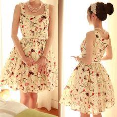 Women Ladies Floral Printed Sleeveless Chiffon Summer Pleat Belted Swing Dress | eBay - http://www.ebay.com/itm/Women-Ladies-Floral-Printed-Sleeveless-Chiffon-Summer-Pleat-Belted-Swing-Dress-/131098167593?pt=US_CSA_WC_Dresses&var=&hash=item1e860f4929