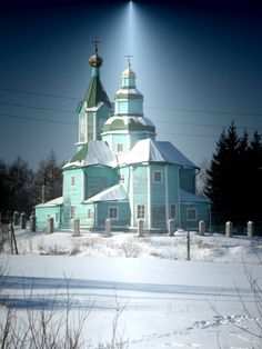 Wood Church of the Descent of the Holy Spirit.  Photo taken in Nevelsky District, Pskov  Russia