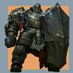 Full Plate Heavy Shield Dwarf Fighter - Pathfinder PFRPG DND D&D d20 fantasy