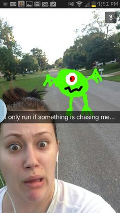 Ahaha just pretend someone is chasing you for motivation! Fitness Diet, Health Fitness, Triathlon Training, Just Pretend, Running Motivation, How To Stay Motivated, Fitness Inspiration, I Laughed, Snapchat