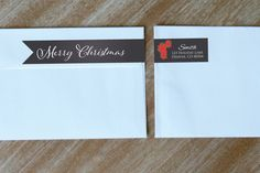 Wraparound Address Label Return Address Labels Christmas Address Label Chalkboard Personalized Holiday Stickers (12.00 USD) by StickEmUpLabels