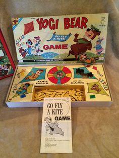 Vintage~1961~Yogi Bear~Board Game~Transogram~Go Fly A Kite~RARE~Complete~USA~ #Transogram
