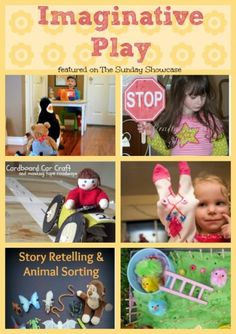 Some lovely ideas for imaginative play featured on The Sunday Showcase this week. Play Based Learning, Learning Through Play, Fun Learning, Learning Activities, Learning Tools, Teaching Ideas, Fun Activities For Preschoolers, Preschool Activities, Children Activities