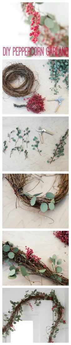 DIY Peppercorn Garland from rusticweddingchic.com ~Find supplies at Afloral.com for your DIY projects