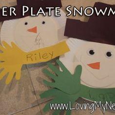 Loving My Nest- paper plate snowman