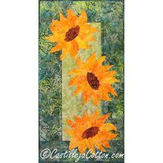 Breezy Sunflowers Quilt Pattern 438410 by castillejacotton on Etsy, $10.00