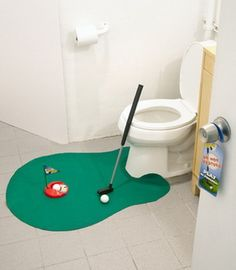 Toilet Tee Time - Golf On The Toilet: Too bad Father's Day has already come and gone. Hahaha!