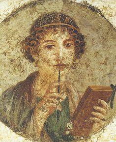 Sappho Portrait from pompeii
