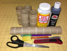 Homemade Photo Frames Made Out of Paper Towel Tubes