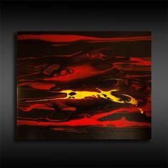 Acrylmalerei - Originale abstrakte Malerei Fluid Painting Bild 4 - ein Designerstück von BrigitteKoenig bei DaWanda