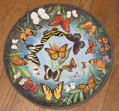 BUTTERFLIES by Jean Day Zallinger Springbok circular jigsaw puzzle vintage 1966