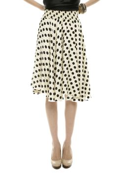 Black & White Dot Party Skirt