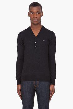 #JLindeberg #black merino #sweater #knit #menswear #clothing $180