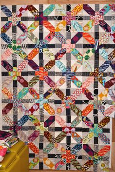 bijou lovely; lovely quilt and adorable blog (look at her puppy pictures)