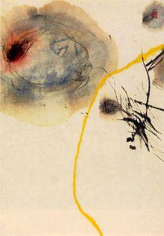 Minjung Kim, Spring (Primavera)     2001  Watercolour and ink on rice paper  (Acquarello e inchiostro su carta di riso)  71 x 52 cm