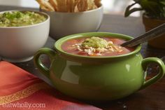Salsa Chicken Tortilla Soup by Wholly Guacamole Recipe on Salsa Chicken, Chicken Tortilla Soup, Canned Chicken, Rotisserie Chicken, Recipe Chicken, Guacamole Recipe, Salsa Recipe, Guacamole Dip, Mexican Food Recipes